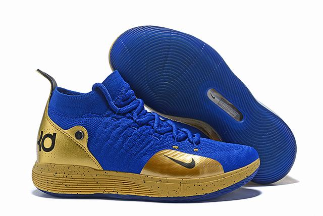 Nike KD 11 Shoes Royal Blue Gold